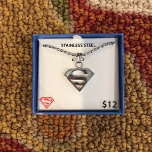 Superman Stainless Steel Necklace NIB